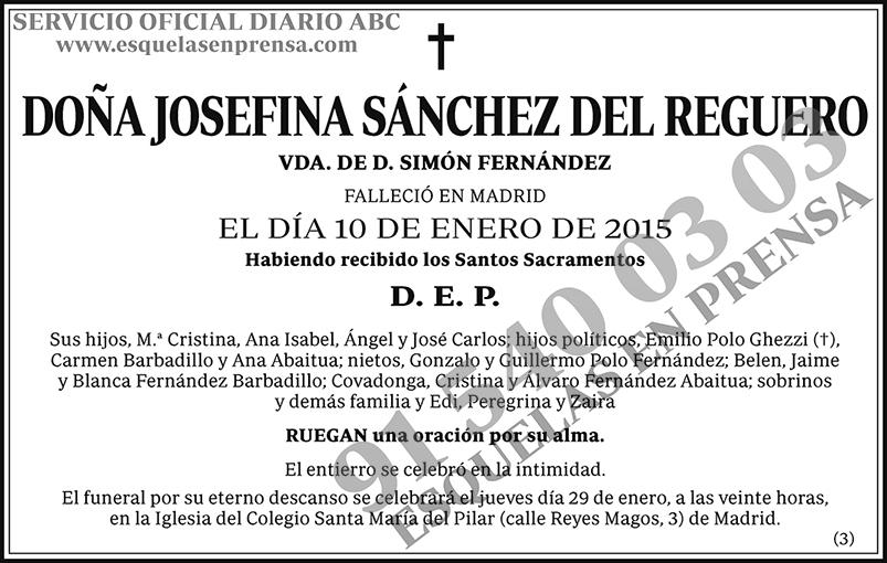 Josefina Sánchez del Reguero